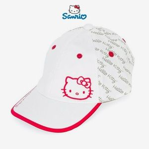 Hello Kitty Pink and White Bow Women's Golf Hat